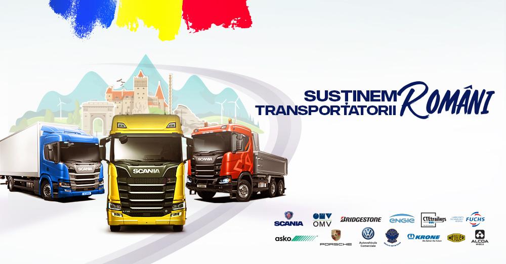 """Caravana Scania """"Susținem transportatorii români"""" ajunge în orașul tău"""