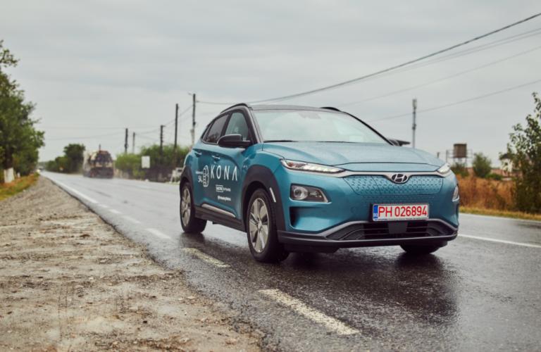 """Hyundai Kona Electric – 500 km parcurși fără reîncărcare în cursa """"Bike 4 Life"""""""